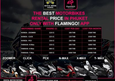 Rental Motor Patong Flamingo Phuket News Low Season Promotion