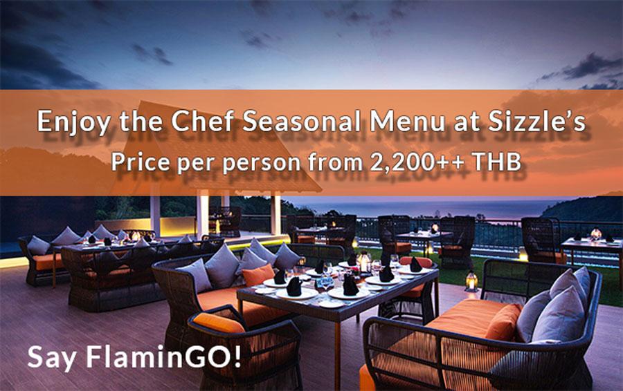 Sizzles Chef Seasonal Menu Promotion