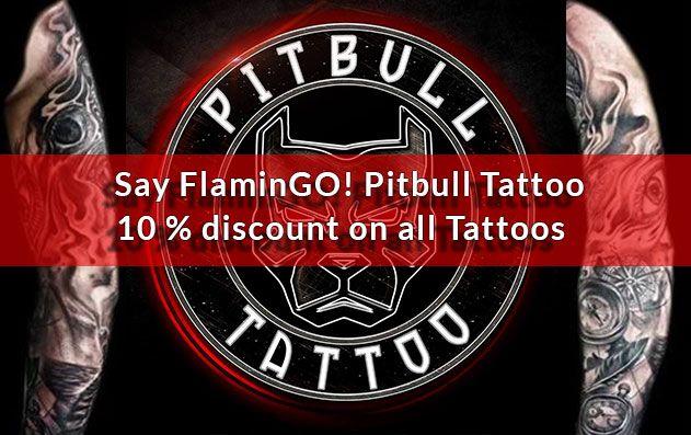 Flamingo Low Season Promotion Pitbull Tattoo